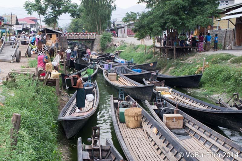 Verkehrsstau in Nyaungshwe, Myanmar