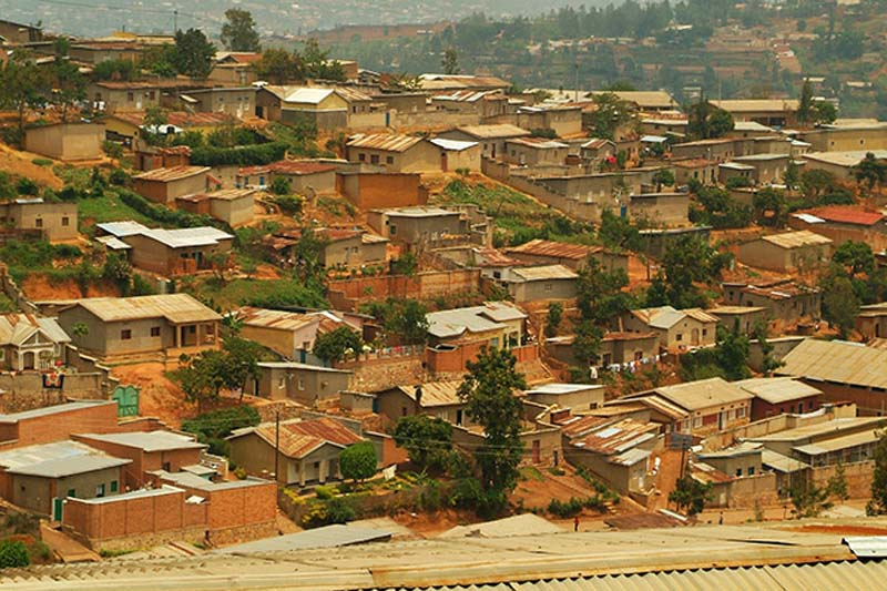 Wohngebiet in Kigali, Ruanda