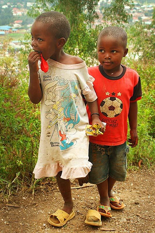 Zwei Kinder, Gisenye, Ruanda