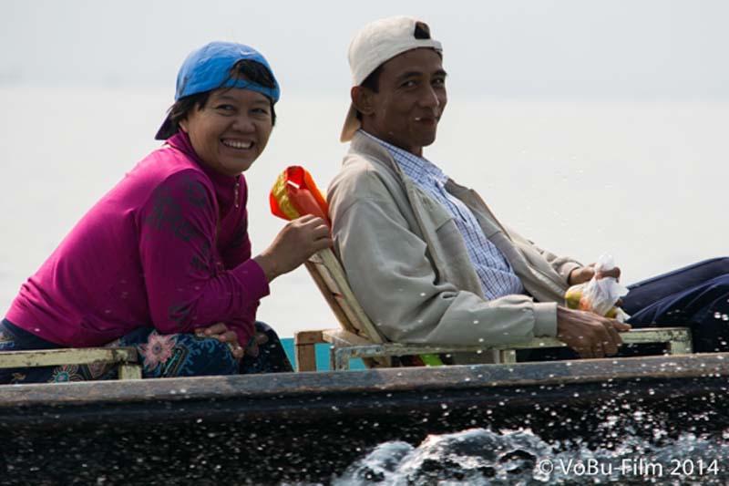 zwei freundliche Menschen, Inle Lake, Myanmar